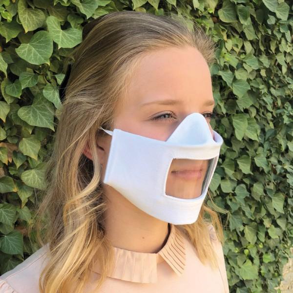 """Mund- und Nasenmaske """"Comfort"""" - mit Sichtfenster (antifog), zum Entnehmen"""